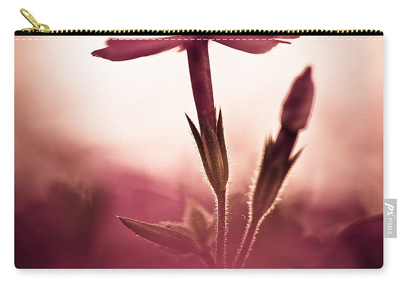 Flower Carry-all Pouch featuring the photograph Dreaming In A Setting Sun by Shane Holsclaw