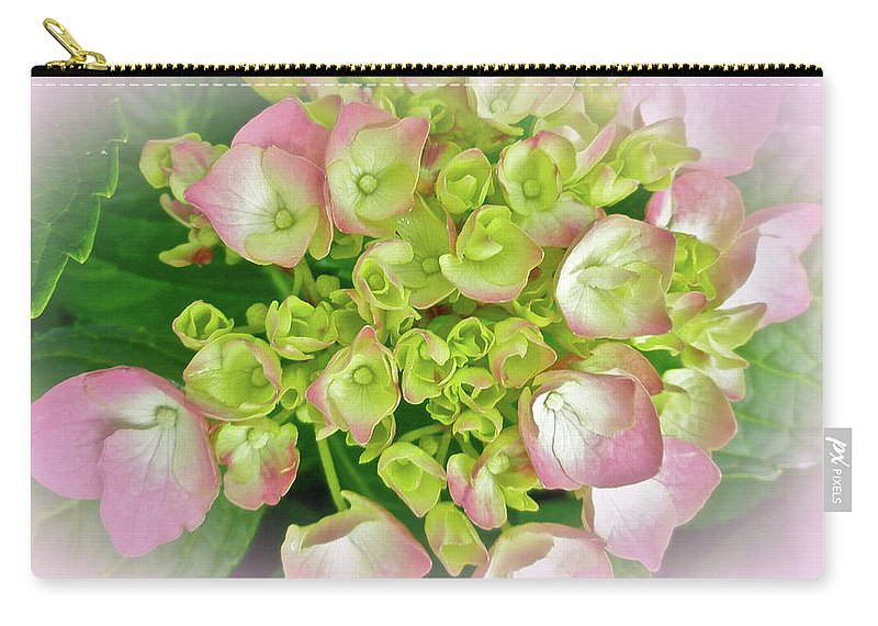 Hydrangea Carry-all Pouch featuring the photograph Dreaming Of Pink Hydrangeas by Mother Nature