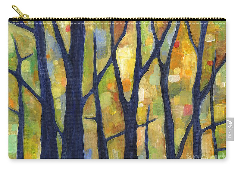 Dreaming Carry-all Pouch featuring the painting Dreaming Trees 2 by Hailey E Herrera