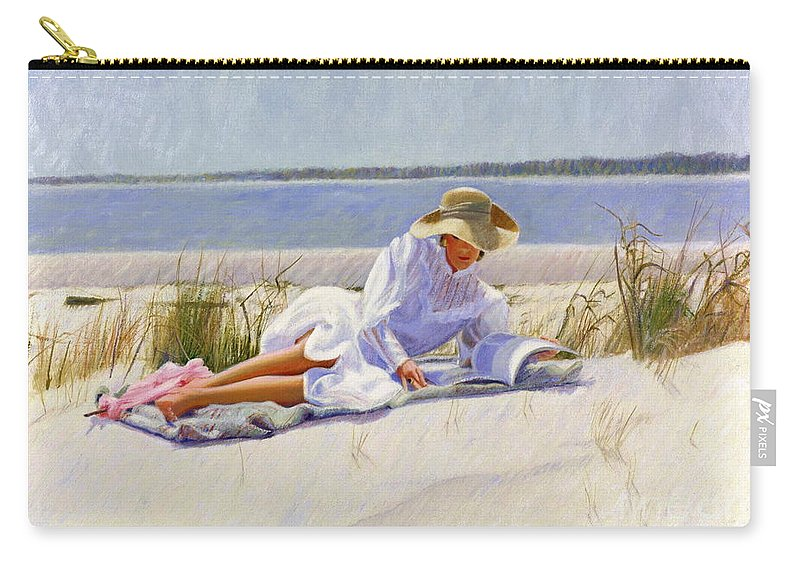 Impressionist Carry-all Pouch featuring the painting Dreams Of Fair Women I by Candace Lovely