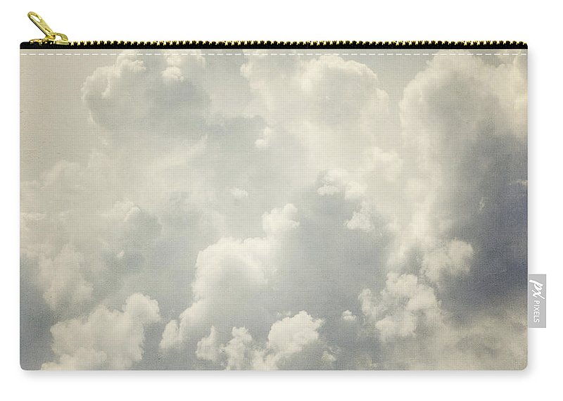Clouds Carry-all Pouch featuring the photograph Dreamy Clouds In Shades Of Grey And Slate Blue by Lisa Russo