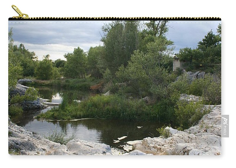 Stones Carry-all Pouch featuring the photograph Dreamy River by Christiane Schulze Art And Photography