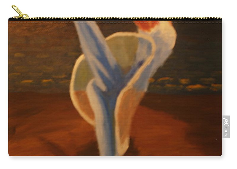 Dancer Carry-all Pouch featuring the painting Dress Rehearsal by David Rodden