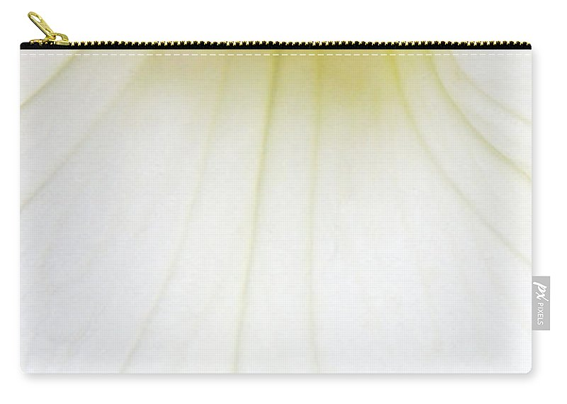 Petunia Carry-all Pouch featuring the photograph Dressed In White by Donna Blackhall