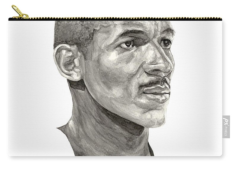 Clyde Drexler Carry-all Pouch featuring the painting Drexler by Tamir Barkan