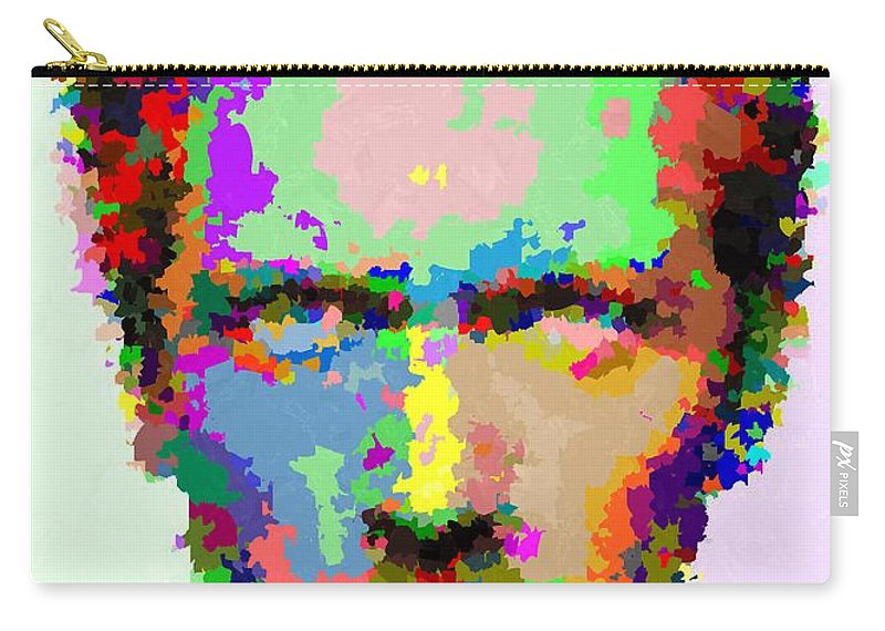 Dr. Carry-all Pouch featuring the painting Dr. House Portrait - Abstract by Samuel Majcen