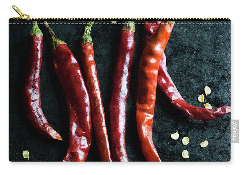 California Carry-all Pouch featuring the photograph Dried Chilli Peppers by Jack Andersen