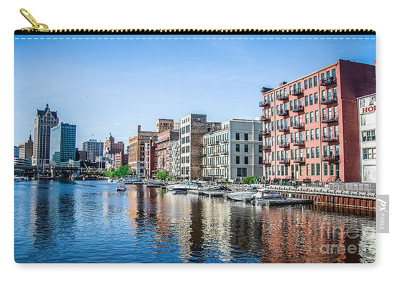Architecture Carry-all Pouch featuring the photograph Drifting Milwaukee by Andrew Slater