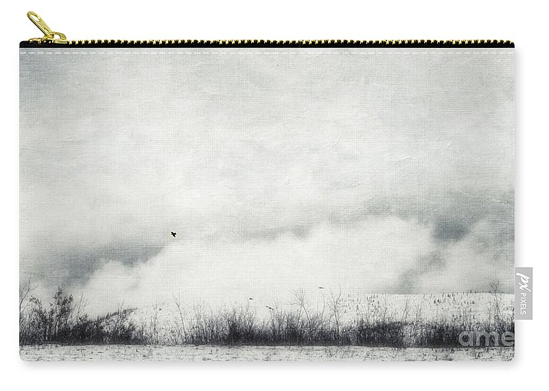 Canada Carry-all Pouch featuring the photograph Drifting by Priska Wettstein