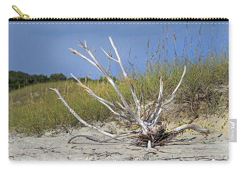 Driftwood Carry-all Pouch featuring the photograph Driftwood by Betsy Knapp