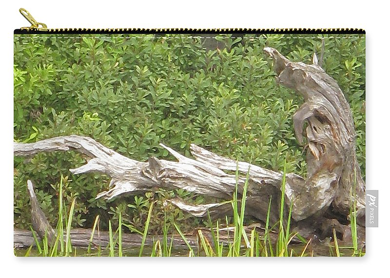 Manitoulin Carry-all Pouch featuring the photograph Driftwood by Ian MacDonald