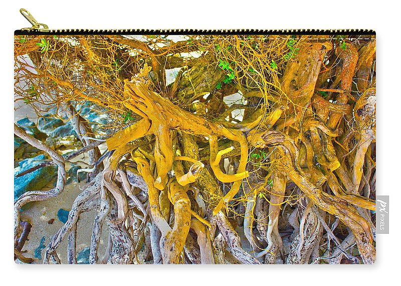Mark J Dunn Carry-all Pouch featuring the photograph Queen Mariana's Driftwood by Mark J Dunn