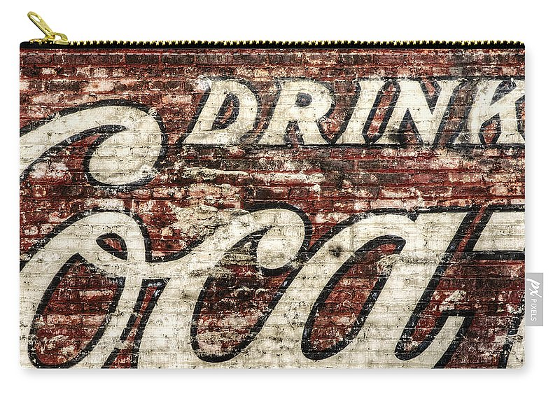 Red Carry-all Pouch featuring the photograph Drink Coca-Cola 2 by Scott Norris