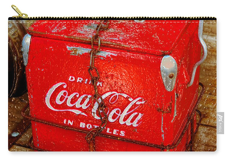 Coke Carry-all Pouch featuring the painting Drink Coke In Bottles by David Lee Thompson