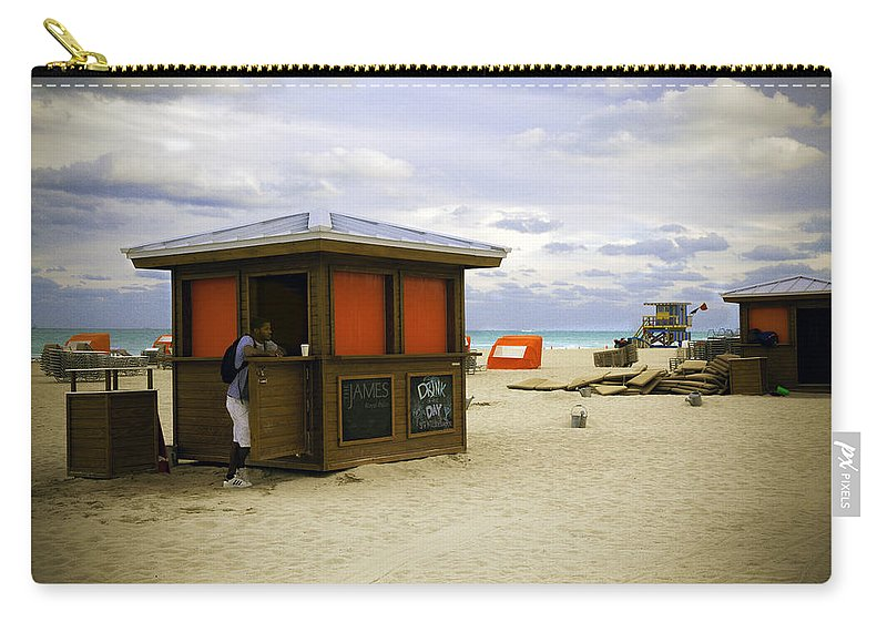 Beach Carry-all Pouch featuring the photograph Drink Of The Day - Miami Beach - Florida by Madeline Ellis