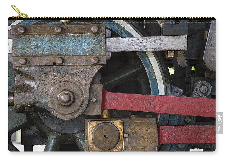 Railroad Carry-all Pouch featuring the photograph Drivin' Wheel by David Stone