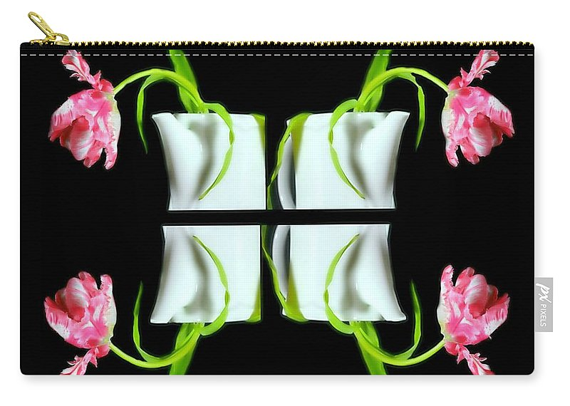Flowers Carry-all Pouch featuring the photograph Droopy Tulips by Diana Angstadt