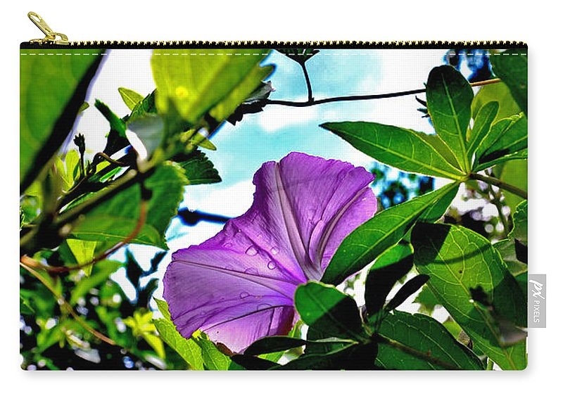 Flower Carry-all Pouch featuring the photograph Droplets On Petal by Shoot AtSight