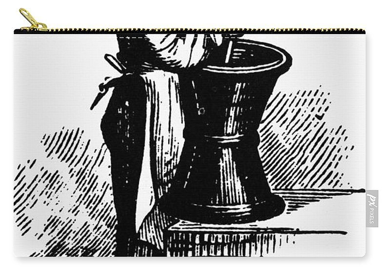 19th Century Carry-all Pouch featuring the photograph Druggist, 19th Century by Granger