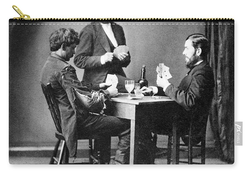1874 Carry-all Pouch featuring the painting Drunkard's Progress, C1874 by Granger