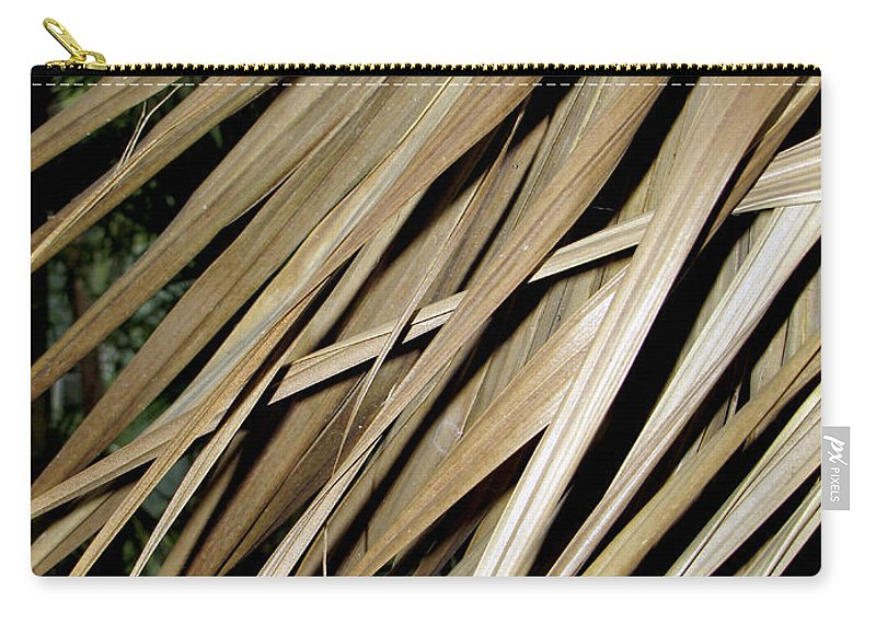 Pattern Carry-all Pouch featuring the photograph Dry Palm Leaves by Bob Slitzan