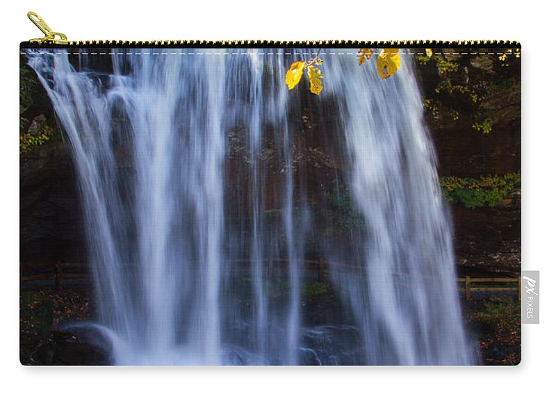 Dry Falls Carry-all Pouch featuring the photograph Dry Falls North Carolina by John Haldane