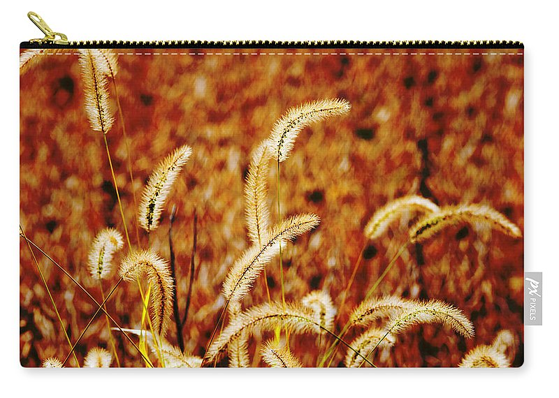 Grass Carry-all Pouch featuring the photograph Dry Grass by Alexey Stiop