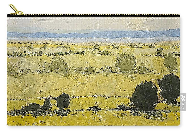 Landscape Carry-all Pouch featuring the painting Dry Grass by Allan P Friedlander