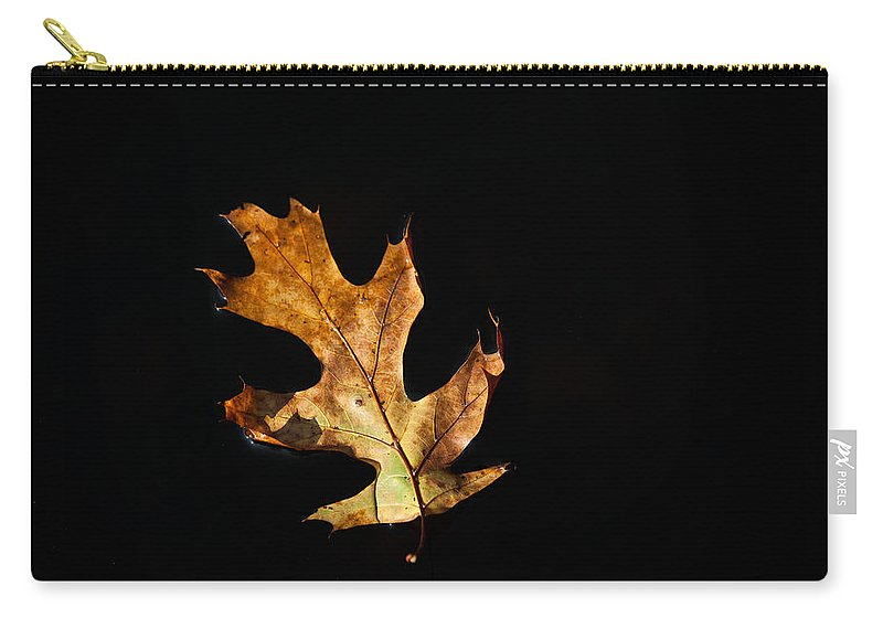 Leaf Carry-all Pouch featuring the photograph Dry On Water by Karol Livote