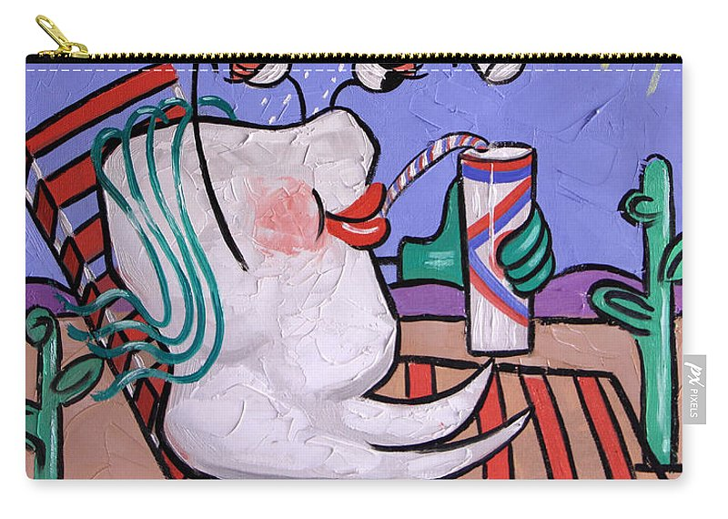 Dry Tooth Carry-all Pouch featuring the painting Dry Tooth Dental Art By Anthony Falbo by Anthony Falbo