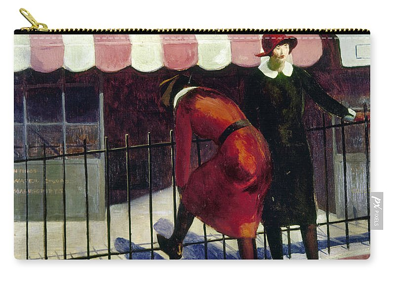 1922 Carry-all Pouch featuring the painting Du Bois Shops, 1922 by Granger