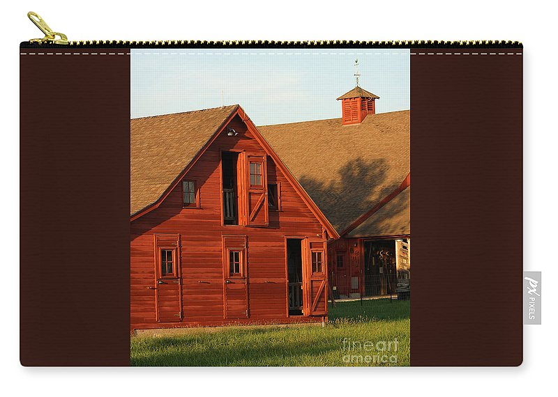 Agriculture Carry-all Pouch featuring the photograph Dual Barns-3811 by Gary Gingrich Galleries