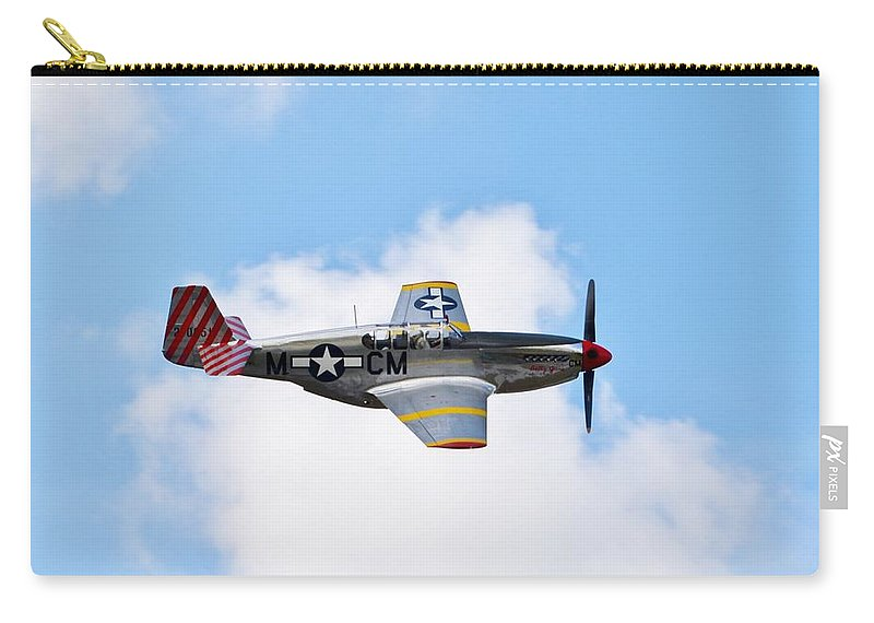 North American P-51 Mustang Carry-all Pouch featuring the photograph Dual Control Tp-51c Mustang by Matt Abrams