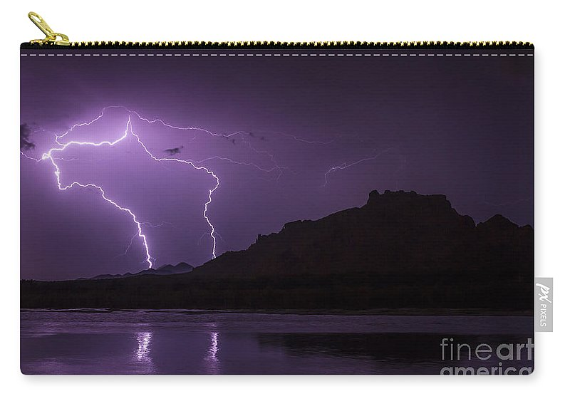 2011 Carry-all Pouch featuring the photograph Duality Strikes by Nicholas Pappagallo Jr