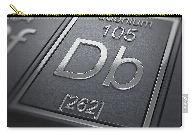 Dubnium Carry-all Pouch featuring the photograph Dubnium Chemical Element by Science Picture Co
