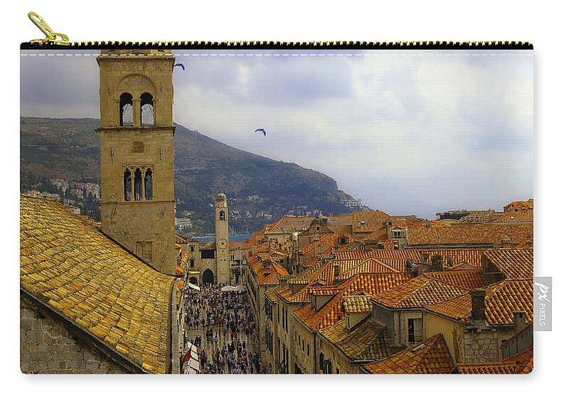 Dubrovnik Carry-all Pouch featuring the photograph Dubrovnik - Old City by Madeline Ellis