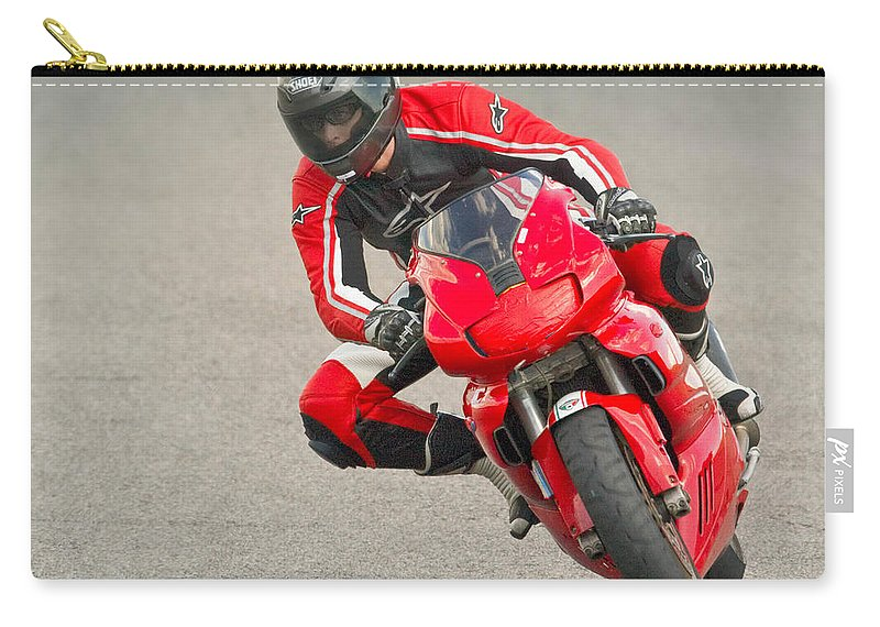 Red Carry-all Pouch featuring the photograph Ducati 900 Supersport by Jerry Fornarotto
