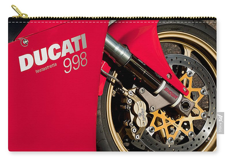 Ducati Testastretta 998 Carry-all Pouch featuring the photograph Ducati Testastretta 998 by Jill Reger