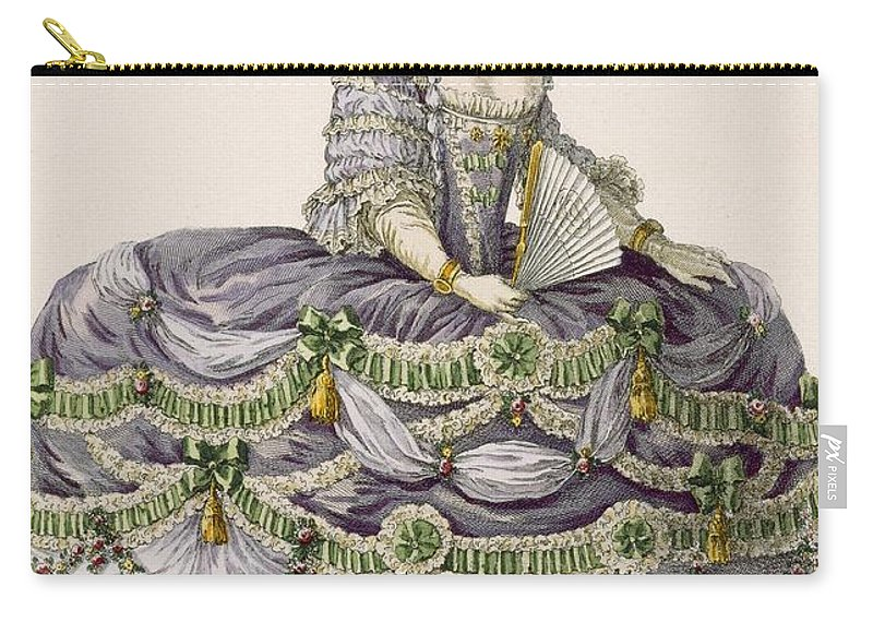 Clothing Carry-all Pouch featuring the drawing Duchess Evening Gown, Engraved by Pierre Thomas Le Clerc