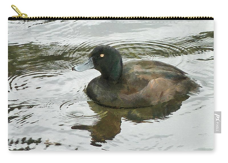 Duck Carry-all Pouch featuring the photograph Duck Day Afternoon by Steve Taylor