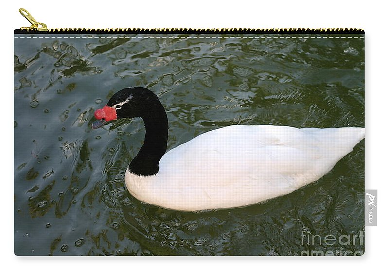 White Carry-all Pouch featuring the photograph Duck by Henrik Lehnerer