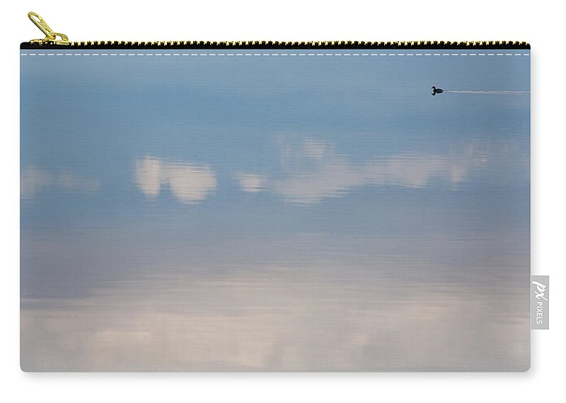 Big Sky Carry-all Pouch featuring the photograph Duck Tail Contrail by Peter Tellone