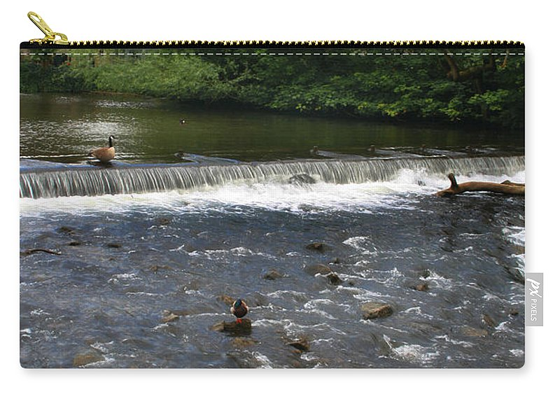 Landscape Carry-all Pouch featuring the photograph Ducks Enjoying The Open Air by Doc Braham