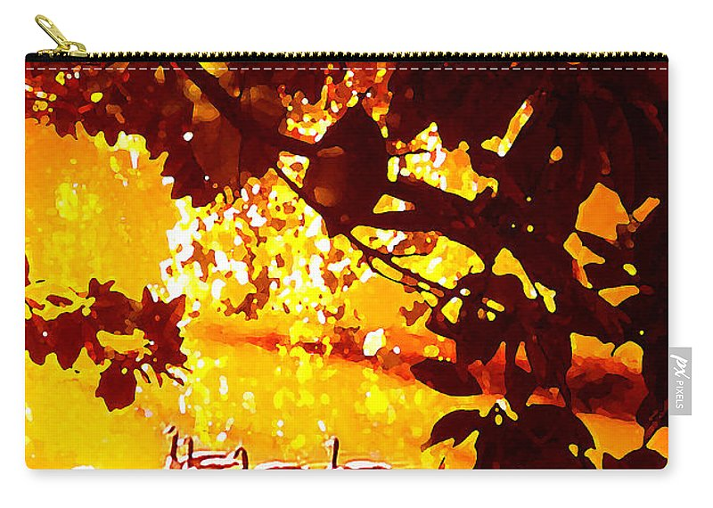 Landscapes Carry-all Pouch featuring the painting Ducks In The Disitance by Amy Vangsgard