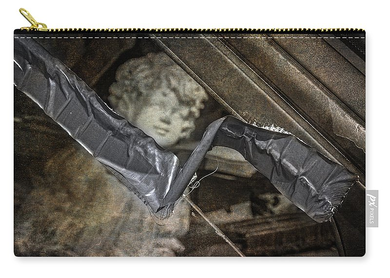 Duct Tape Repair Carry-all Pouch featuring the photograph Duct Tape Repair by Dale Kincaid