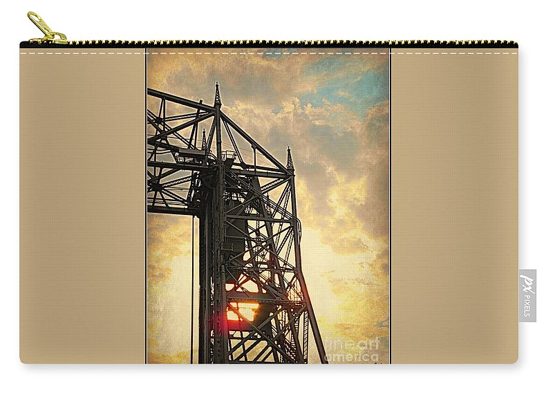 Duluth Lift Bridge Carry-all Pouch featuring the photograph Duluth Lift Bridge by Beth Ferris Sale