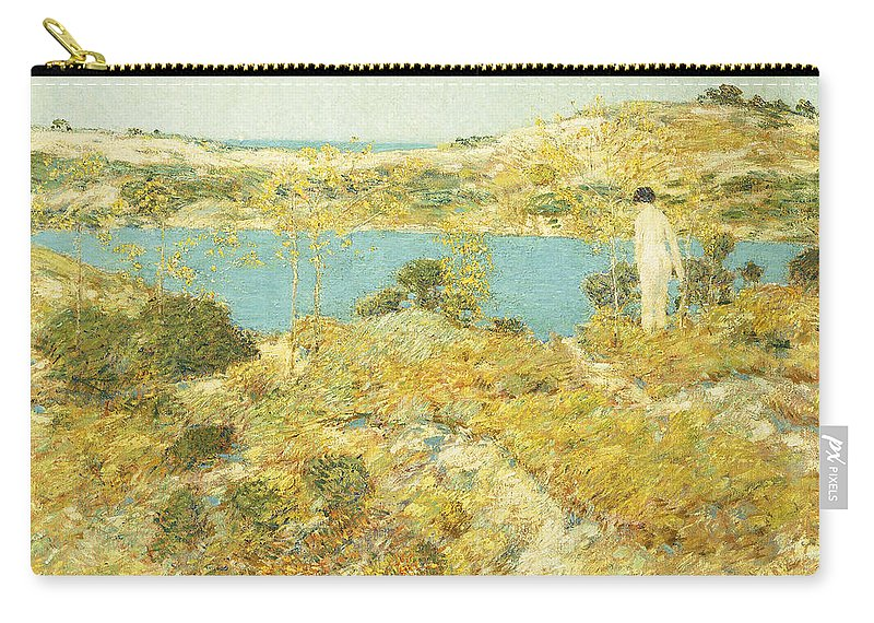 American Art; American Impressionism; American Impressionist; Beach Carry-all Pouch featuring the painting Dune Pool by Childe Hassam