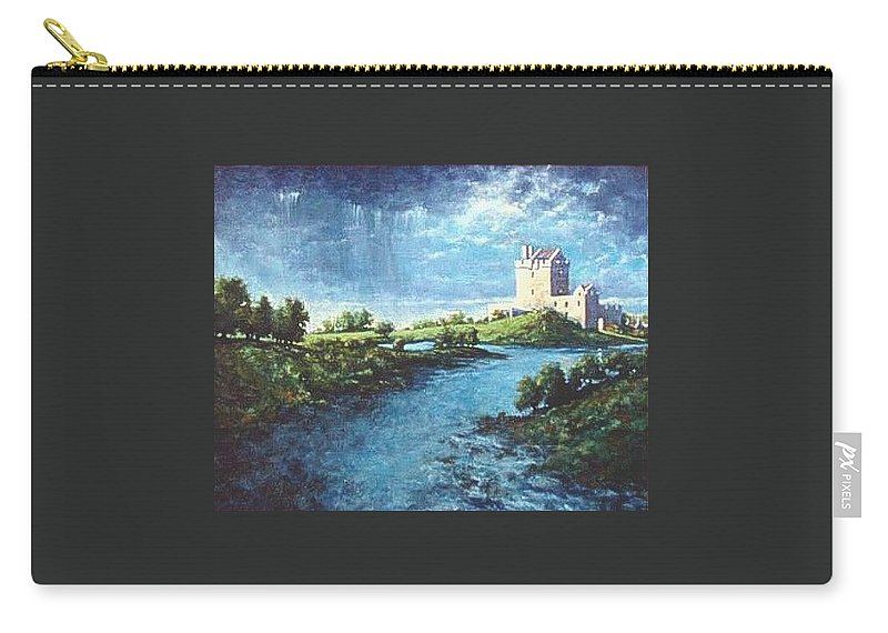 Irish Carry-all Pouch featuring the painting Dungaire Castle by Jim Gola