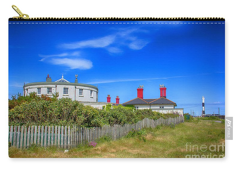 Kent Canas.kent Prints Carry-all Pouch featuring the photograph Dungeness Lighthouse Quarters by Chris Thaxter