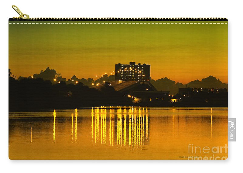 City Carry-all Pouch featuring the photograph Dunlawton Morning by Deborah Benoit